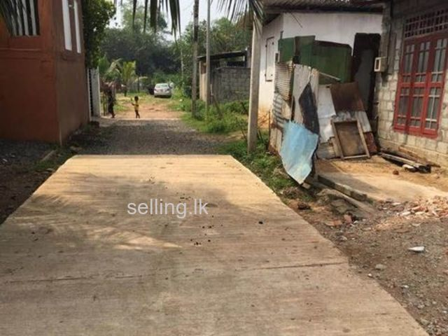 Land with a small house for sale in panadura