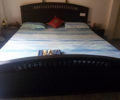 Teak KING bed with mattress