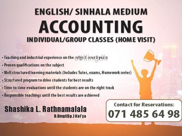 Accounting A/L & O/L English/Sinhala Medium