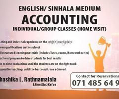 Accounting A/L & O/L English/Sinhala Medium
