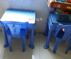 kids plastic desk and chair