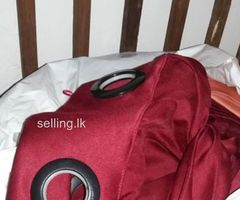 brand new curtains (15 curtains) in dark maroon satin material