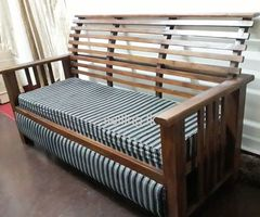 Teakwood Sofa Set with Coffee Table