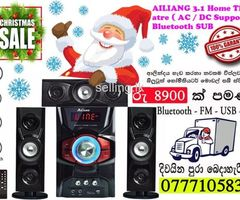 AILIANG 3.1 Home Theatre ( AC / DC Support ) Bluetooth SUB