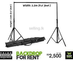 Tripod Backdrop Stand for Rent.
