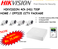HHIKVISION  CCTV 4- CHANNEL CAMERA PACKAGE