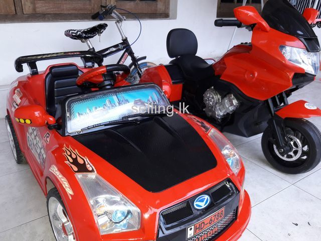 Toy car and bike for sale