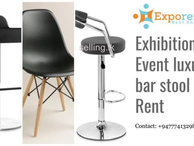 Exhibition stall bar stools for rent
