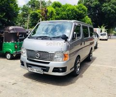 Nissan Caravan Van for Hire