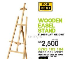 Wooden Easel Stand for Rent Sri Lanka