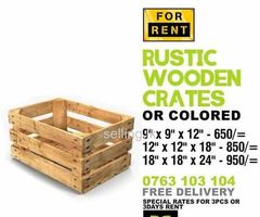 Rustic finish wooden Crates for rent. ( Pallet - Fine wood )