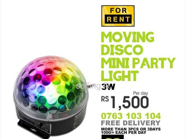 Disco Light Mini Party Lamp LED 3W Effect for Rent.