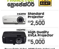 Range of Multimedia Projectors for Rent.