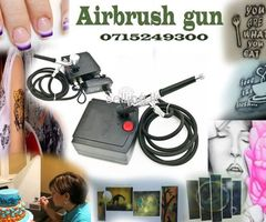 Airbrush gun with compressor +Cake Decorating + Makeup+ Paint +Art
