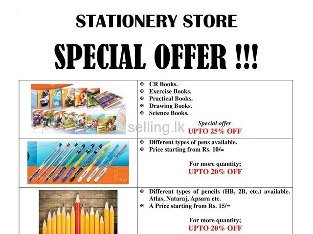 Stationery Items.