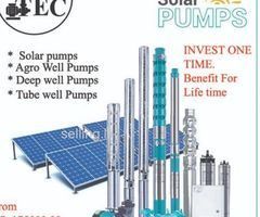 solar water pump.  pumping system