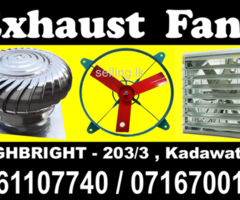 Exhaust fans roof ventilators manufacture  Srilanka