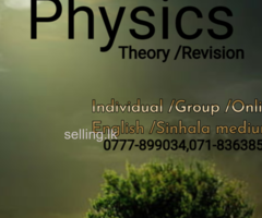 Physics Sinhala and English medium