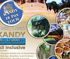 2Days - 1 Night Kandy 10Pax Tour