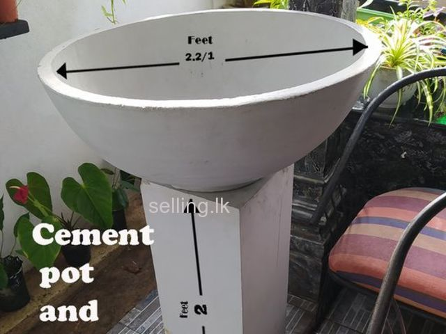 CEMENT POT STAND