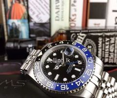 Rolex GMT II Batman Edition (Black/Blue Bezel) Watch for Men