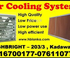 Evaporative cooling pad in sri lanka, Industrial  water cooling systems for