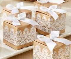 WEDDING CAKE PIECE SIZE : 2 X 1.25 X 0.75