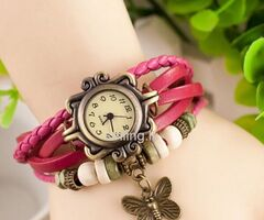 Retro Butterfly Women Gift Watch