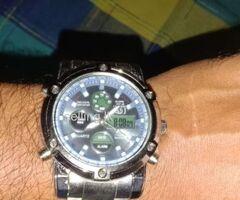 ASJ Quartz Dual Watch Men (2 yrs Warranty)