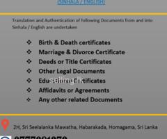 Sworn Translation Service - Homagama