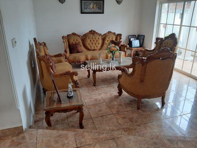 Indonesian teak luxury sofa set