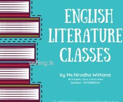 English Literature classes