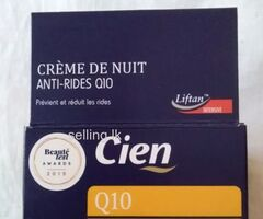 CIEN  Q 10  ANTI WRINKLES NIGHT CREAM MATURE SKIN FROM GERMANY