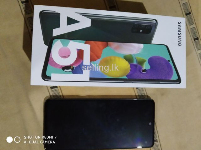 Samsung A51 128GB 4Months remaining company warranty