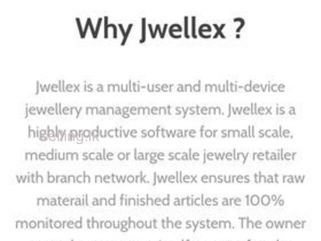 Sri Lanka's No01 Jewellery Management System-*Jwellex*