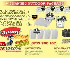 4 CHANNEL HIKVISION PACKAGE