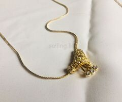 ladies imitation gold necklace