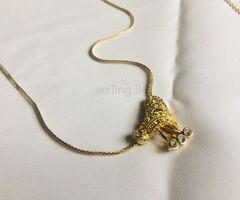 ladies imitation gold necklace