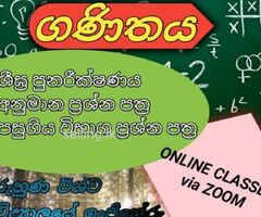 2020 O/L-Mathematics-Online or Home visiting classes