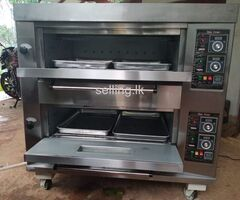 Gas oven 2 deck 4 tray 40 bread