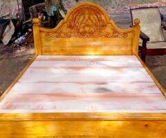 අඩි 5 double bed  කොහොඹ ලී