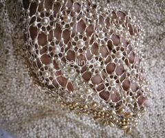 Bridal saree with pearl work