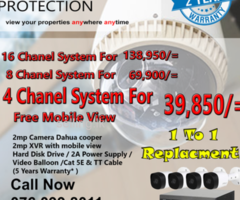 CCTV Camera For Your Home Security  Now For 39,850.00 Only