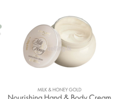 Body cream milk and honey gold