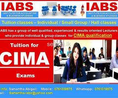 Tuition for CIMA  - Individual & Group Classes