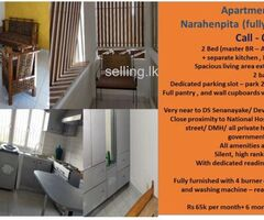 Apartment for rent – Narahenpita (fully Furnished)