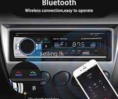 Car Audio Setup with 2.1A USB Fast Charging Bluetooth