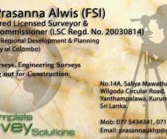 Land Survayor in Kurunegala A.R. Prasanna Alwis (FSI)