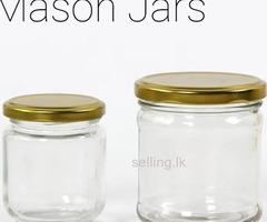 Mason Jar and Juice Bottles