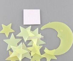Glow Moon Star In The Dark Wall Sticker